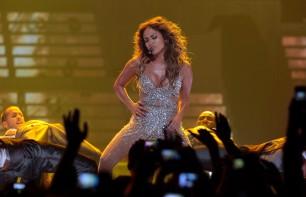 Jennifer López, en un concierto en Lisboa.